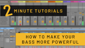 2 minute tutorials from dowden how to make your bass more powerful
