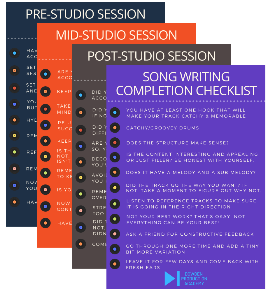 music production cheatsheets